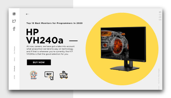 best monitors for programmers-HP VH240a