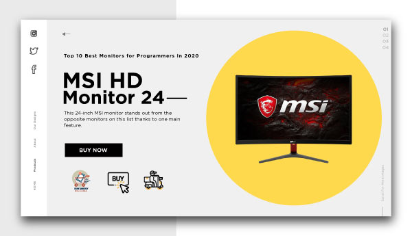 best monitors for programmers-MSI-HD-Monitor-24