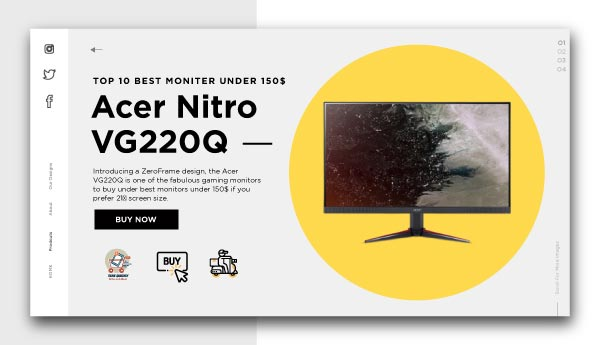 best monitors under 150$-Acer Nitro VG220Q
