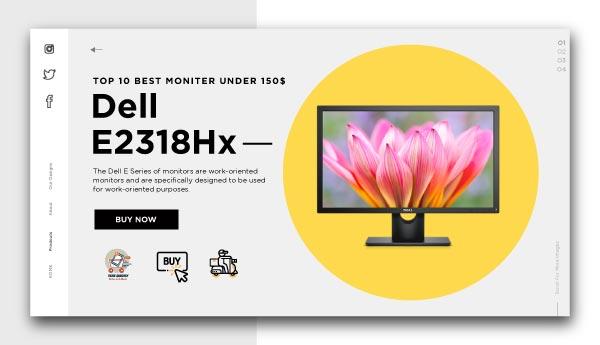 best monitors under 150$- Dell E2318Hx