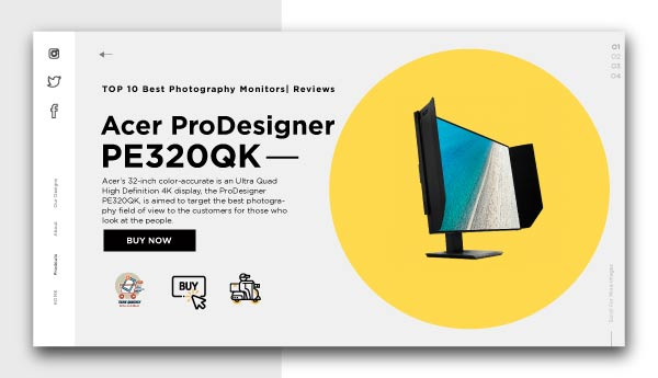 best photography monitors-Acer ProDesigner PE320QK