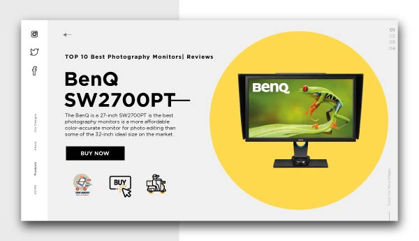best photography monitors-BenQ SW2700PT