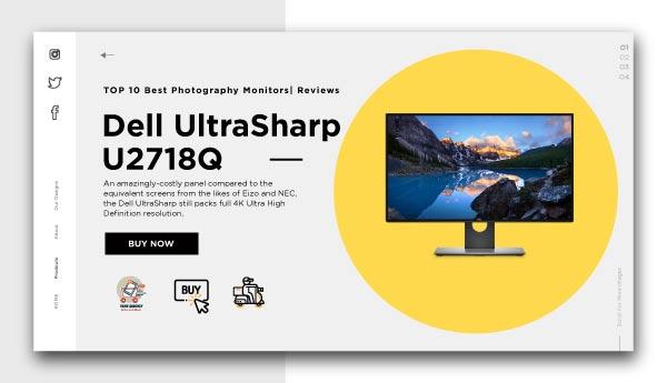 best photography monitors-Dell UltraSharp U2718Q