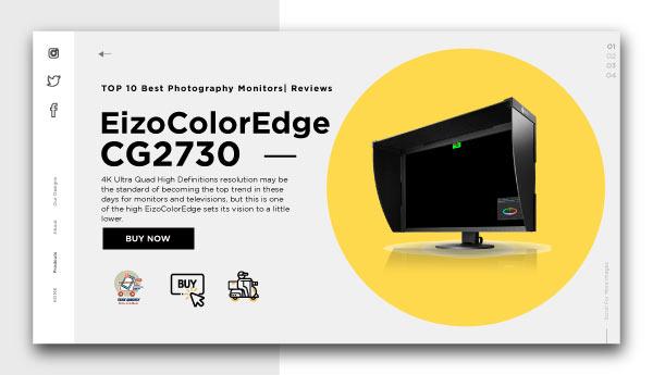 best photography monitors-EizoColorEdge CG2730