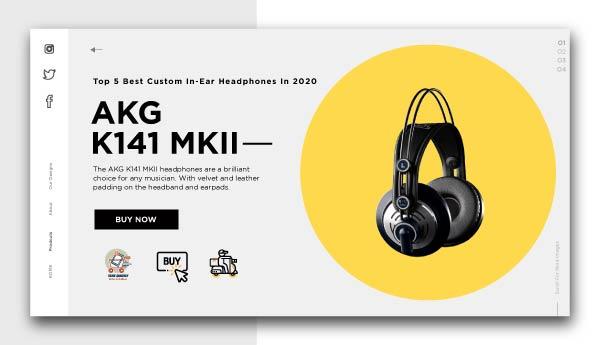 best piano headphones AKG K141 MKII