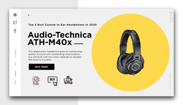 best piano headphones -Audio-Technica ATH-M40x