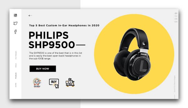 best piano headphones -PHILIPS SHP9500