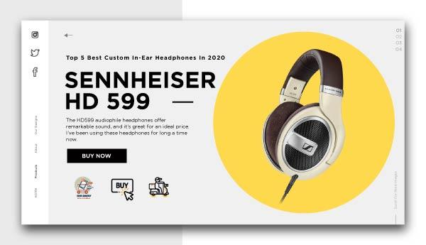 best piano headphones -SENNHEISER HD 599