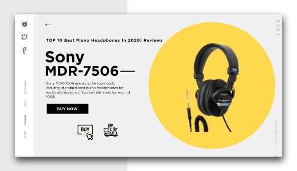 best piano headphones -Sony MDR-7506