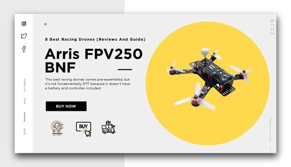 best racing drones-Arris FPV250 BNF