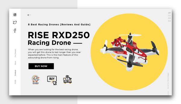 best racing drones-RISE RXD250