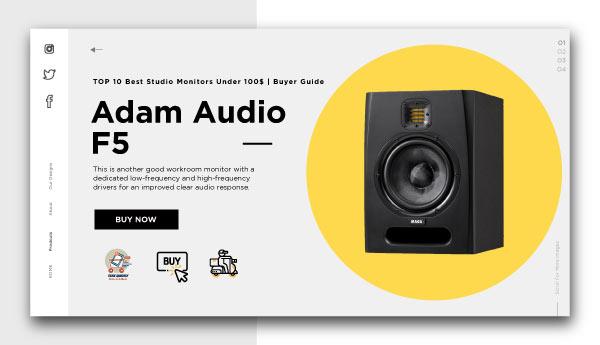 best studio monitors under 100$-Adam Audio F5