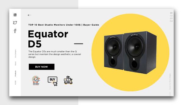 best studio monitors under 100$-Equator D5