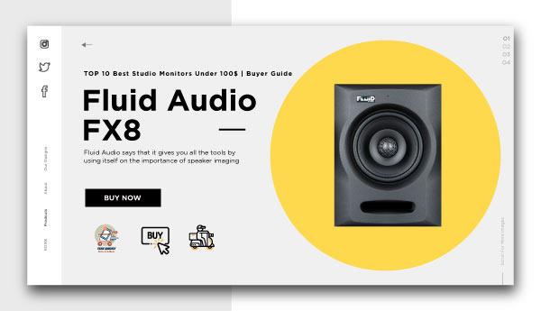 best studio monitors under 100$-Fluid Audio FX