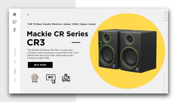 best studio monitors under 100$-Mackie CR Series CR3