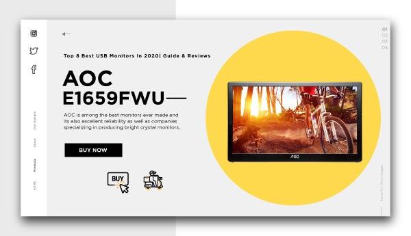 best usb monitors-AOC-e169Fwu