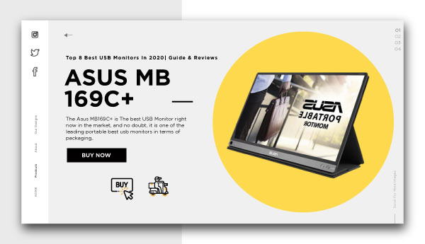 best usb monitors-ASUS-MB-169C