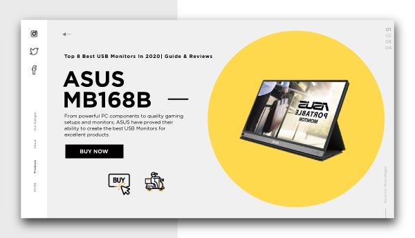 best usb monitors-ASUS-MB168B