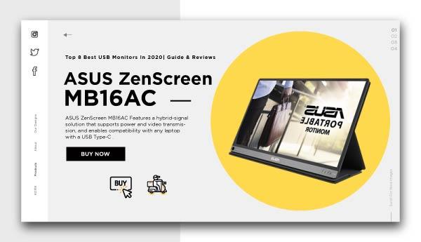 best usb monitors-ASUS-ZenScreen-MB16AC