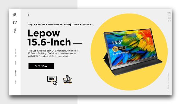 best usb monitors-Lepow-15.6-inch