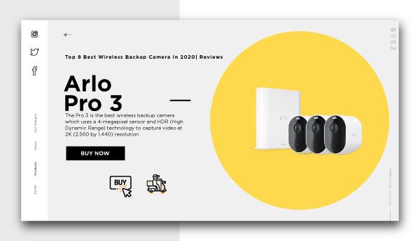 best wireless backup camera-Arlo-Pro-3