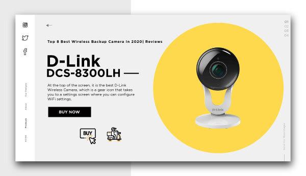 best wireless backup camera-DLink-DCS-8300LH