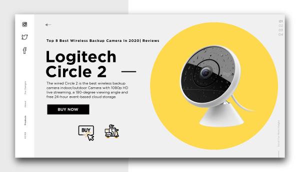 best wireless backup camera-Logitech-Circle-2