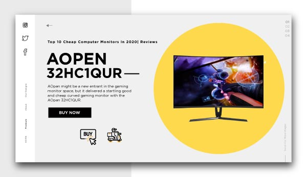 cheap computer monitors-AOpen 32HC1QUR