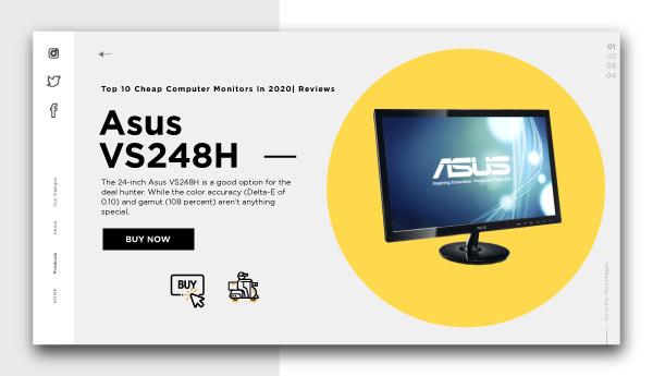 cheap computer monitors-Asus VS248H