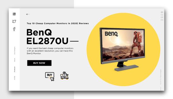 cheap computer monitors-BenQ EL2870U