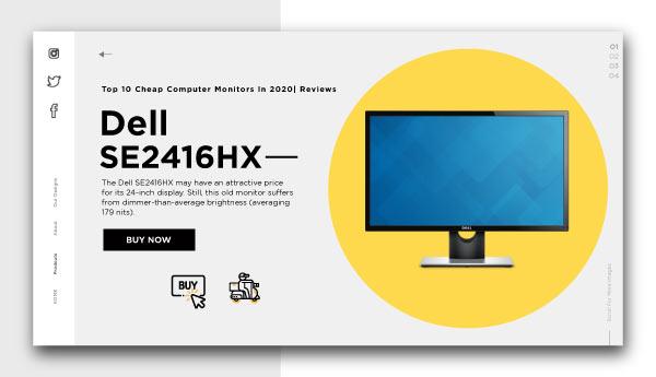 cheap computer monitors-Dell SE2416HX