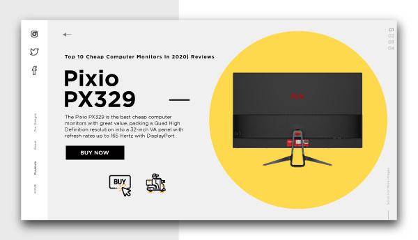 cheap computer monitors-Pixio PX329