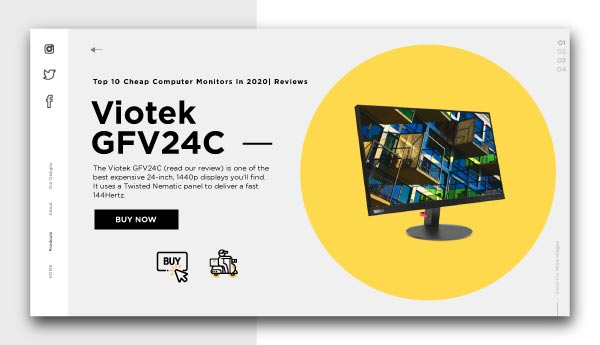cheap computer monitors-Viotek GFV24C