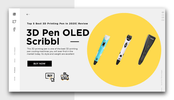 3d printing pen-3D-Pen-OLED-Scribble-with-PLA-ABS-Filament