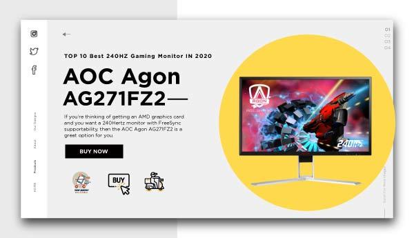 best 240HZ gaming monitor-AOC-Agon-AG271FZ2