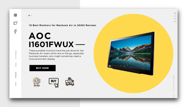 best monitors for macbook air-AOC-I1601FWUX