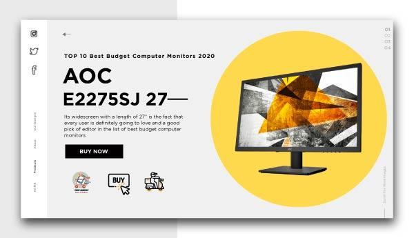 best budget computer monitors-AOC-e2275SJ