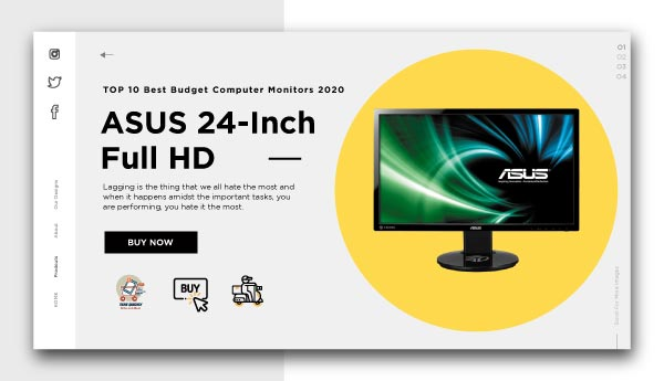 best budget computer monitors-ASUS 24-Inch