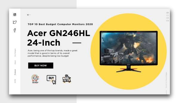 best budget computer monitors-Acer GN246HL