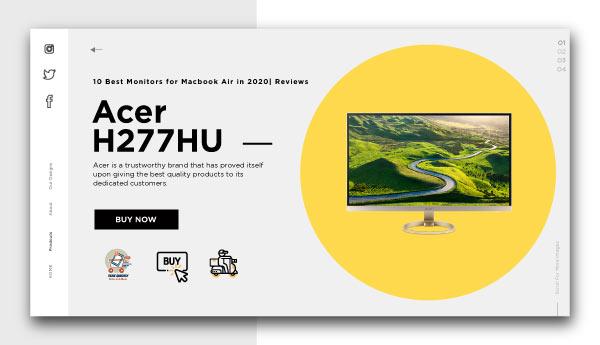 best monitors for macbook air-Acer-H277HU