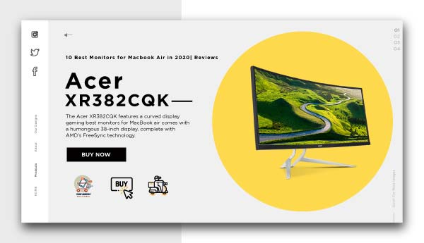 best monitors for macbook air-Acer-XR382CQK