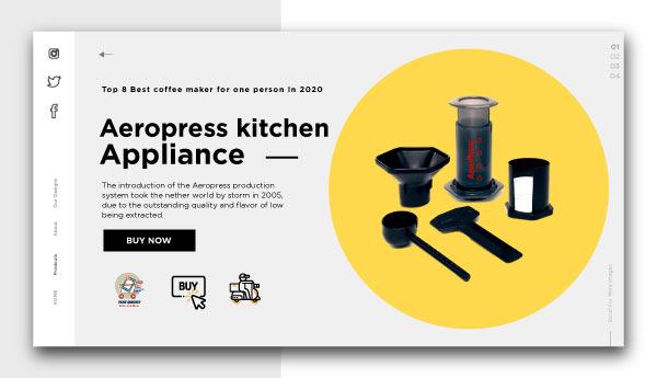 best coffee maker for one person-Aeropress-kitchen-appliance