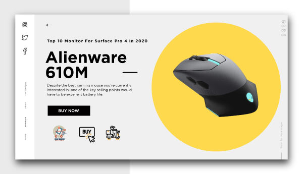 best wireless gaming mouse-Alienware-610M