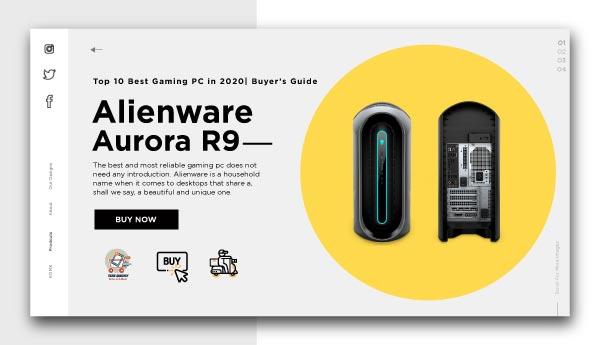 best gaming pc-Alienware-Aurora-R9