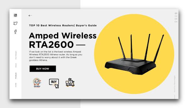 best wireless routers-Amped-Wireless-RTA2600-Athena