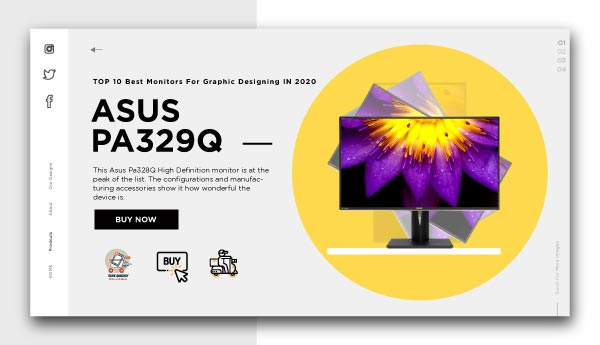 monitors for graphic designing -Asus ProArt PA329Q