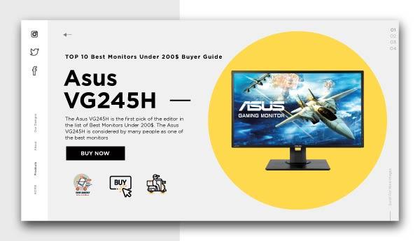 Best Monitors Under 200$-Asus VG245H