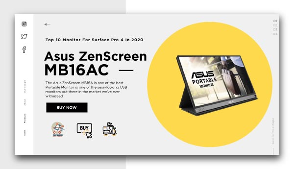 monitor for surface pro 4-Asus-ZenScreen-MB16AC