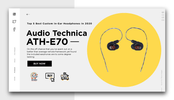 best custom in-ear headphones-Audio-Technica-ATH-E70