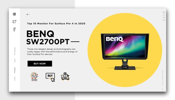 monitor for surface pro 4-BENQ-SW2700PT